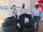 Melchor Budarth Entrega Insumos para Ampliación de Red de Agua al NCP Chamal Nuevo