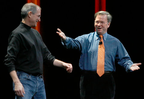 Immagine di Steve Jobs And Eric Schmidt