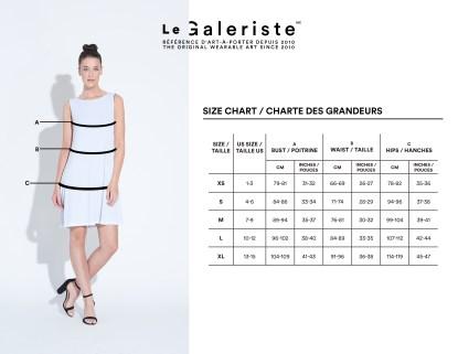 charte grandeur robe