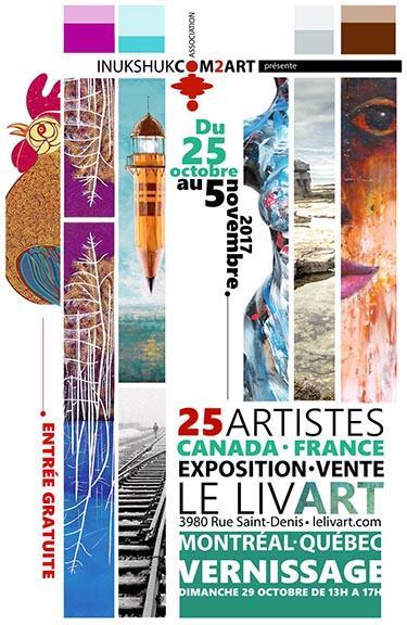 Galerie Le Livart MOntréal carton invitation