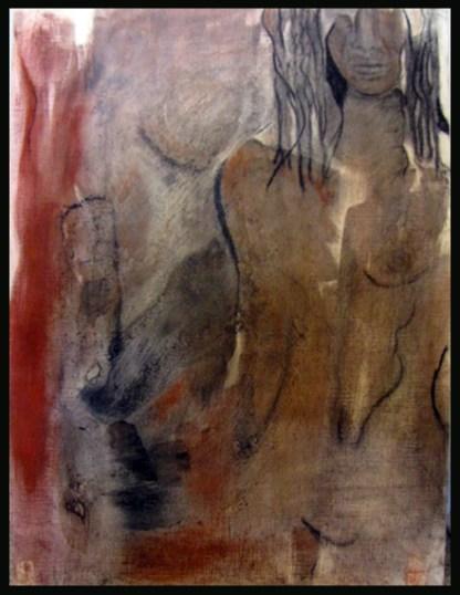 peinture à l'encre et sanguine