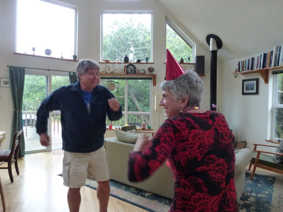 Here is Toni dancing with her favorite person in the whole wide world, RICK CLARK!