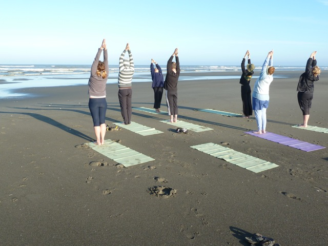Yoga on the Beach is all about BREATH!