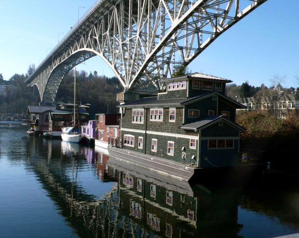 Bridge and Houseboats