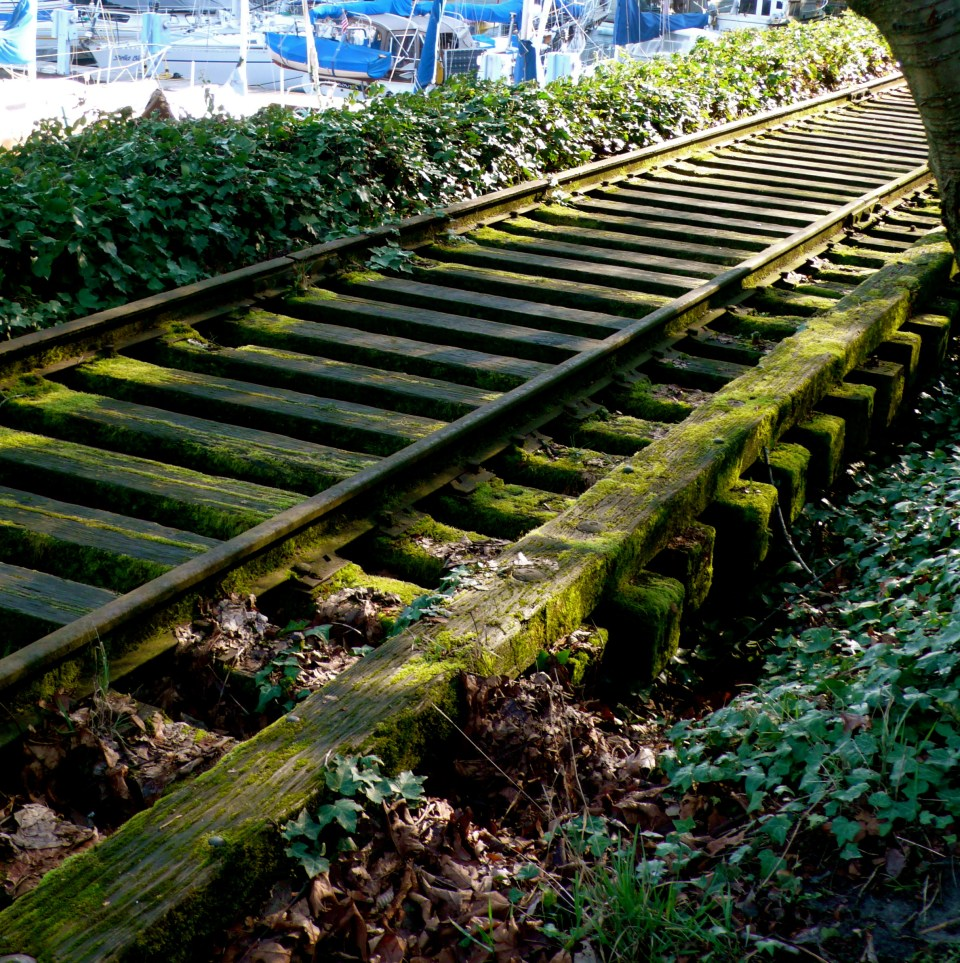 Old Remnants of Train Tracks along Lake Union