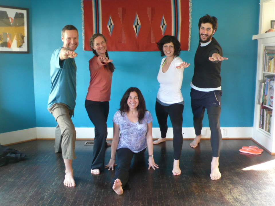 yoga workshop at Skye's house