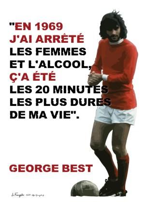 Poster A3+ George Best «En 1969…»