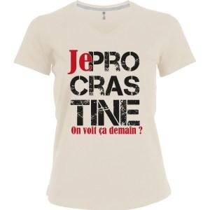 T-shirt «Je procrastine»