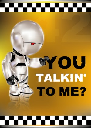 Poster A3+ Marvin « You talkin' to me? »