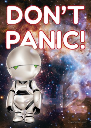 Poster A3+ « Marvin – Don't Panic! »