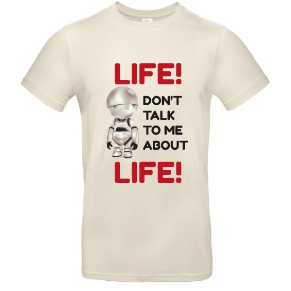 T-shirt citation Marvin H2G2