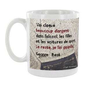 Mug citation George Bests