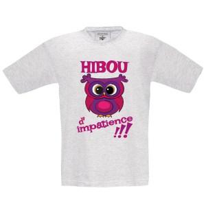 T-shirt enfant «Hibou d'impatience»