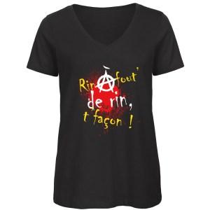 T-shirt «Rin à fout de rin, t'façon !»