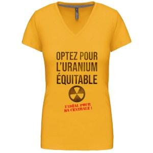 T-shirt «Uranium équitable»