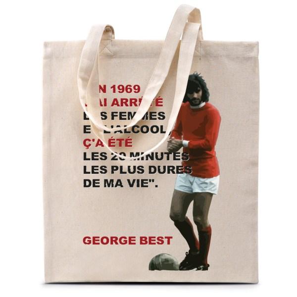 """Tote bag George Best """"En 1969..."""""""