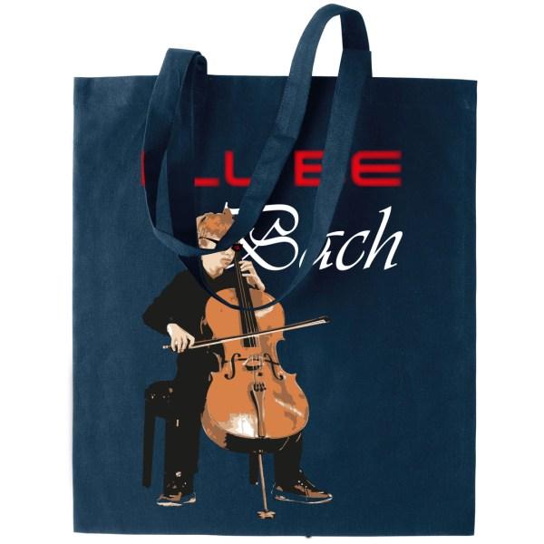 "Tote bag bleu marine ""I'll be Bach"""