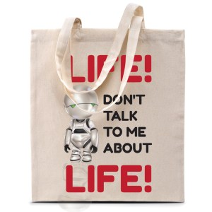 Tote bag Marvin «Life, don't talk me about life…»