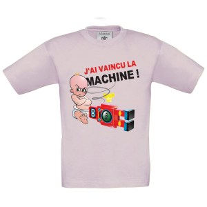 T-shirt enfant « J'ai vaincu la machine ! »