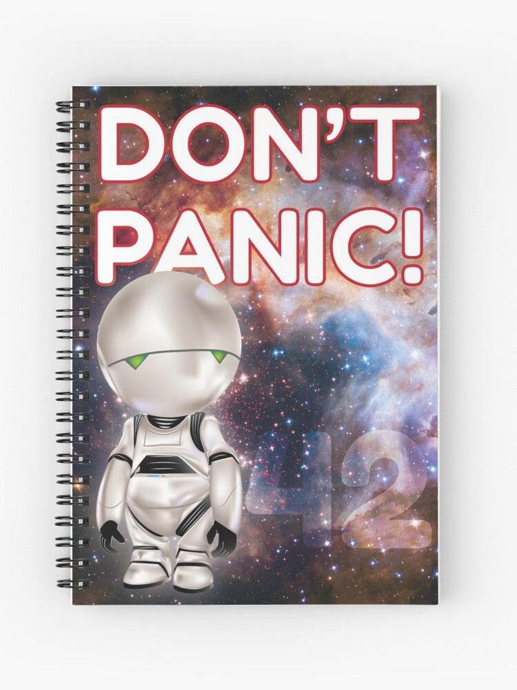 """Cahier à spirales Marvin """"Don't Panic!"""""""