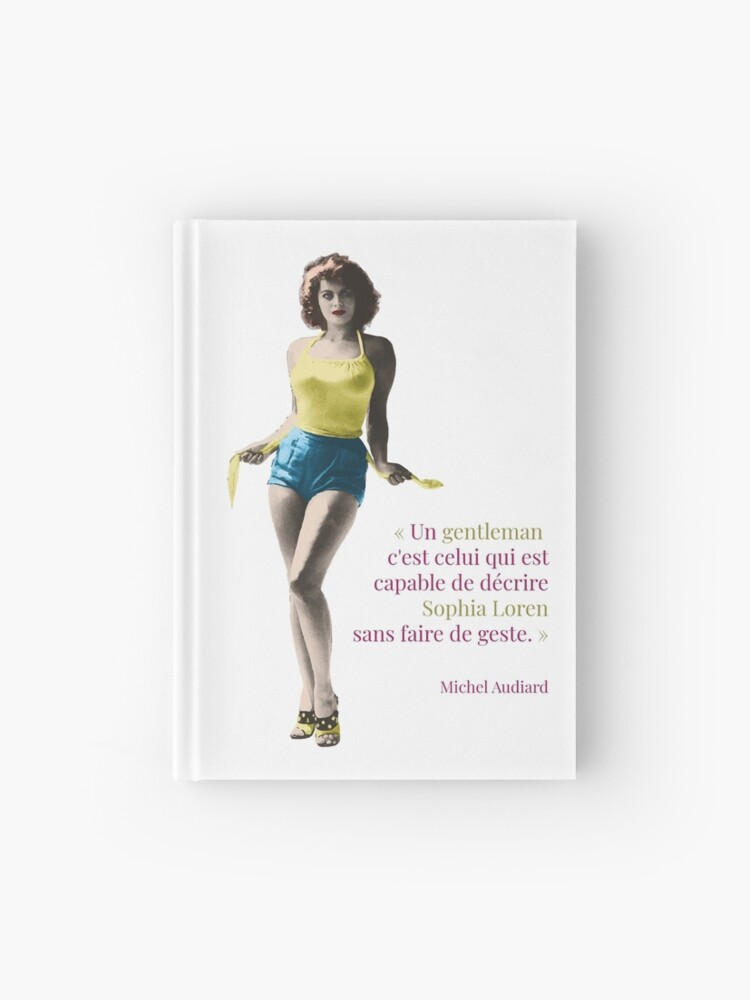 "Carnet cartonné Michel Audiard ""Sophia Loren"""