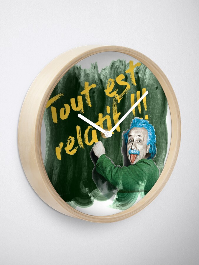 Read more about the article Horloge Einstein «Tout est relatif»