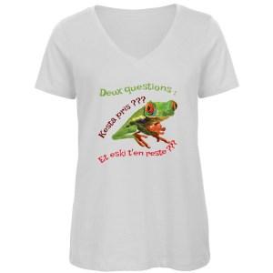 T-shirt «Deux questions»