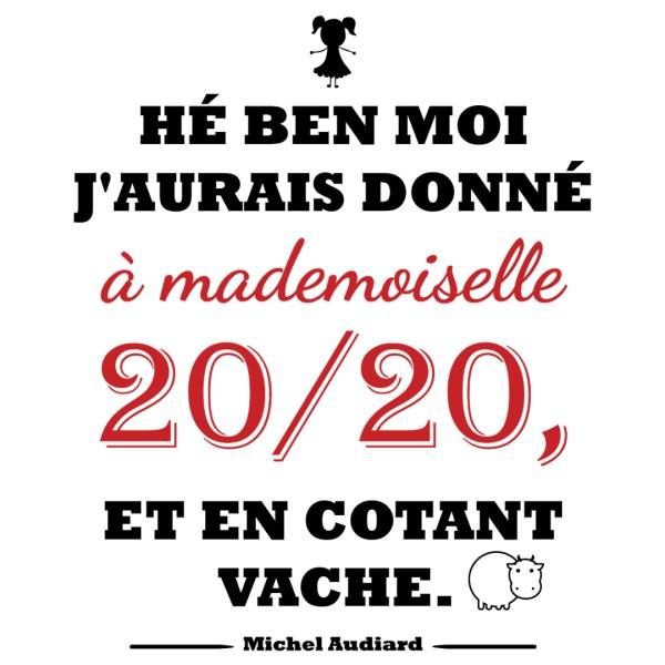 "Magnet Audiard ""Mademoiselle 20 sur 20"""