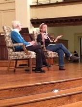 With author Anne Lamont, November 21, 2013