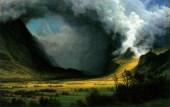 """Albert Bierstadt: """"Storm in the Mountains"""""""