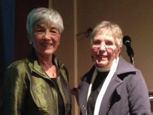 Mileva Lewis with the author