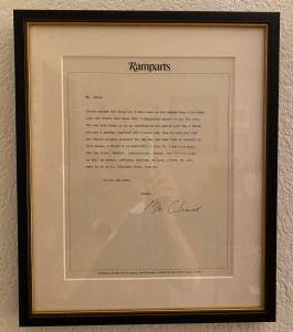 Cleaver letter