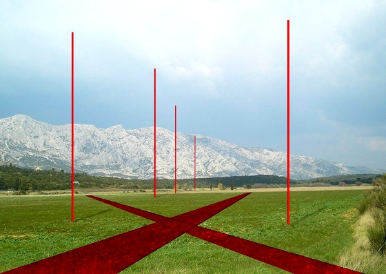 Sainte Victoire - Land Art