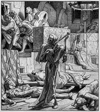 Première invasion du choléra à Paris, au bal de l'opéra de Réthel, 1849-1851.