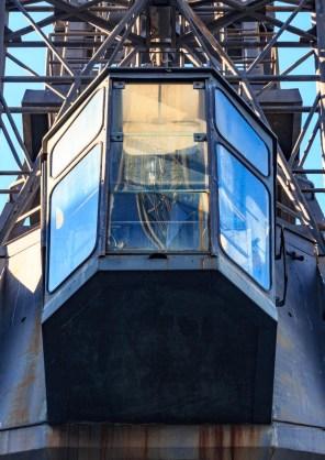 Port sans Gênes - Cabine d'une grue