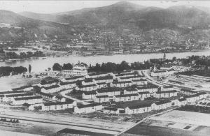 Historisches Foto: US-Siedlung bei Bonn-Plittersdorf