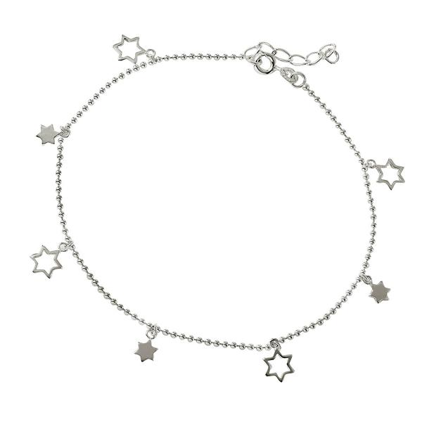 wholesale sterling silver Star Charm Anklet
