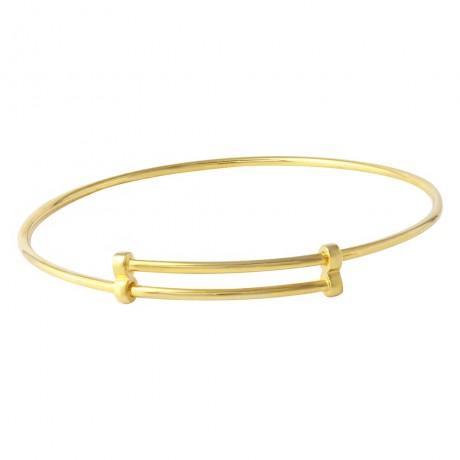 wholesale silver gold plated adjustable bangle bracelet44551