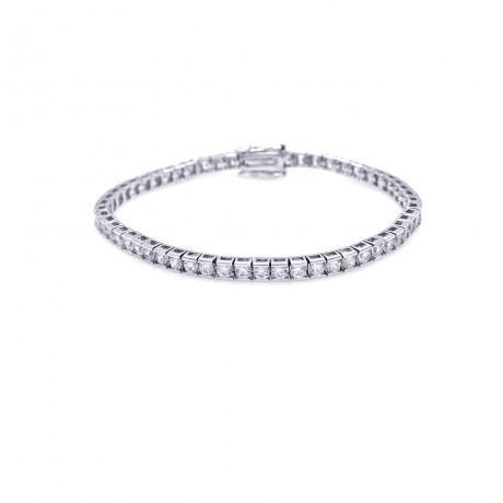 wholesale silver emarald cut cz tennis bracelet