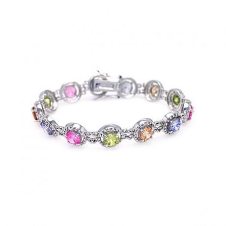 wholesale silver sharp marqui cz bracelet