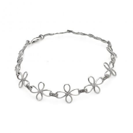 wholesale silver cross link bracelet