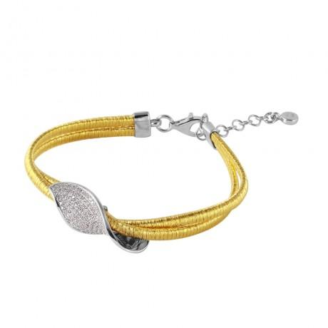 wholesale silver gold plated micro pave italian bracelet