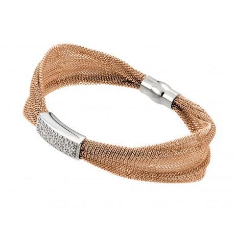 Серебряный позолоченный итальянский браслет-шнур желтый