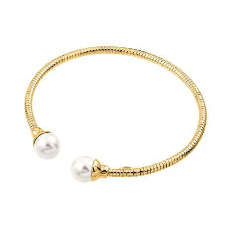 Серебряный позолоченный итальянский браслет-манжета