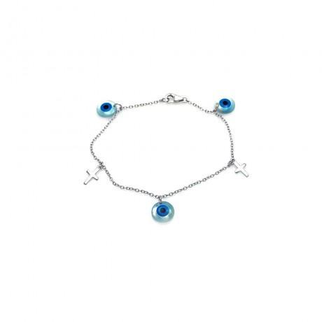 wholesale silver star of david evil eye and hamsa black cord bracelet