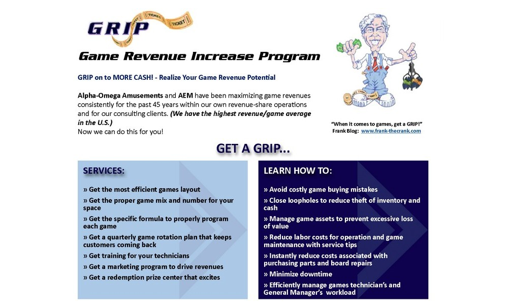 GRIP – Game Revenue Increase Program