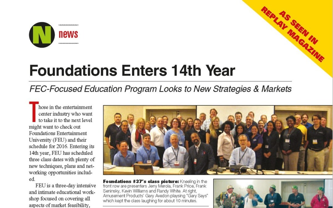 Foundations Entertainment University Enters 14th Year