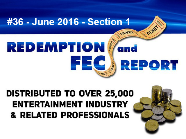 Breaking News – The Redemption & Family Entertainment Center Report – June 2016