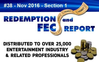 Breaking News – The Redemption & Family Entertainment Center Report – November 2016