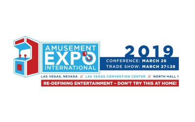 Amusement Expo International AEI 2019 is a must attend – March 26-28 Las Vegas
